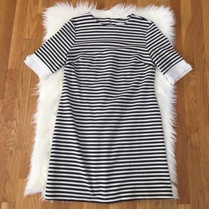 New York & Company Stretch Stripe Shift Dress.